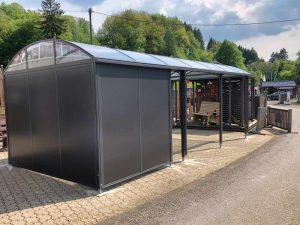 Referenzen Montage Geräteraum Elbe mit Carport von KGT