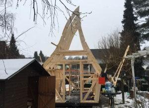 Aufbau Aura Gartenhaus Hexenhäuschen