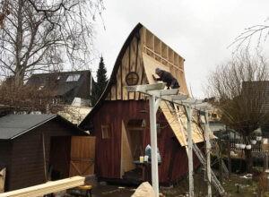 Aufbau Montage Aura Gartenhaus Hexenhäuschen
